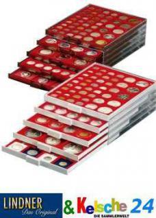 LINDNER Münzbox Münzboxen 48 x 1 EURO Cent 1 Pfennig 1 Reichspfennig in Münzkapseln Rauchglas 2924 - Vorschau 2
