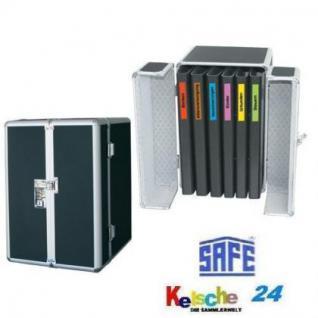SAFE 205 ALU Aktenkoffer Akten-SAFE mit 6 x Dokumentenmappen A4 + Etiketten Von A - Z
