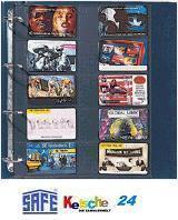 10 x SAFE 471 Compact A4 Ergänzungsblätter Spezialblätter Telefonkarten / Visitenkarten