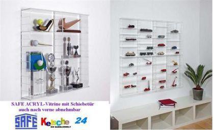SAFE 5212 ACRYLGLAS Sammel Vitrinen Universal XL Modul C Maße 60 x 60 x 15 cm + 2 x 4 Zwischenböden - Für Ihre Schätze von A - Z