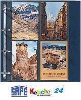 100 SAFE 5471 SP Postkartenhüllen Ansichtskartenhüllen DIN A4 4er Teilung für bis zu 800 Karten