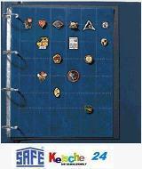 3 x SAFE Compact A4 Einstecktafeln Ergänzungsblätter Spezialblätter für Anstecknadeln - Vorschau
