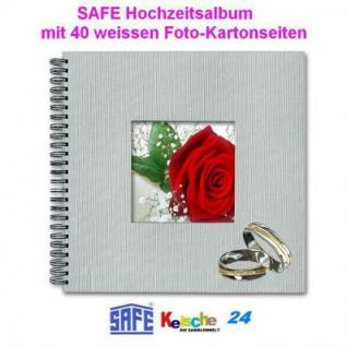 SAFE PREMIUM HOCHZEITS FOTOALBUM 40 S 33x33cm +BILD