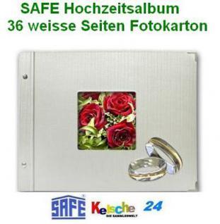 SAFE Hochzeitsfotoalbum 36 Seiten 20x34cm+Coverbild - Vorschau