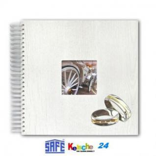 SAFE Hochzeits Fotoalbum Holzeinband 36 S. 33x33cm