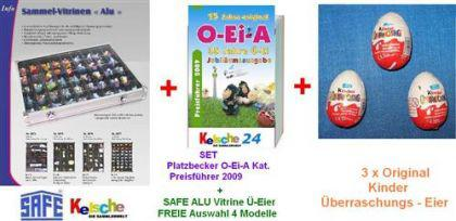 SAFE Vitrinen + 3x Ü-Eier + O-EI-A Platzbecker Kat