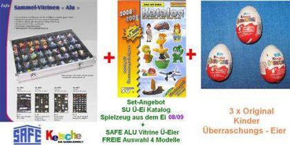 SU Spielzeug aus dem Ei 08/09+ 3 Ü-Eier+ SAFE Vitri