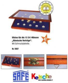 SAFE 5887 Holz Vitrinen 2 EURO Römische Verträge Für 13 x 2 Euro Münzen 2007