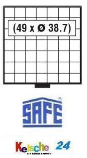 SAFE 6107 BEBA SCHUBLADEN 49 quadratische Fächer 38, 7 mm für 6100 Maxi MÜNZKASTEN