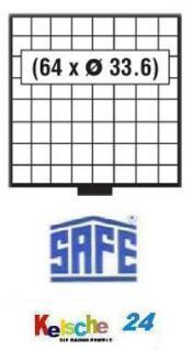 SAFE 6108 BEBA SCHUBLADEN 64 quadratische Fächer 33, 6 mm für den Maxi MÜNZKASTEN