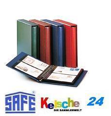 SAFE 708-4 Ringbinder Album Variant Blau 233 x 274 x 45 mm (leer) zum selbstbefüllen Für Banknoten Blocks Briefmarken Briefe ETB FDC Postkarten