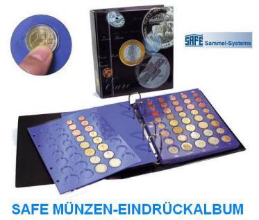 SAFE 7817 TOPset Münzalbum mit 5 Blättern 25 x EUROMÜNZEN KMS Kursmünzensätze 1 Cent - 2 Euro zum eindrücken