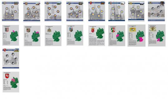 16 x SAFE 1866 Set TOPset farbige Vordruckblätter für Safe Münzblätter Münzhüllen 7854 - 2 Euromünzzen 2002 - 2015 - Vorschau 5
