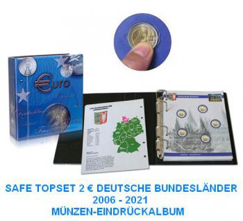 SAFE 7821-B1 TOPset 2 EUROMÜNZEN Deutsche Bundesländer Münzalbum inclusive 10 Münzblättern Band 1 - 2006-2021 - Vorschau