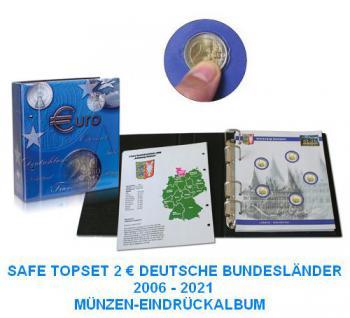 SAFE 7821-B2 TOPset 2 EUROMÜNZEN Deutsche Bundesländer Münzalbum inclusive 11 Münzblatt Band 2 ab 2016 - 2006-2021 - Vorschau