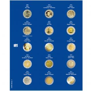 1 x SAFE 7822-6 TOPset Münzblätter Ergänzungsblätter Münzhüllen für 15x 2 Euromünzen Jahrgang 2009 - 2011