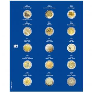 1 x SAFE 7822-7 TOPset Münzblätter Ergänzungsblätter Münzhüllen für 15x 2 Euromünzen Jahrgang 2011 - 2012 - Vorschau 1