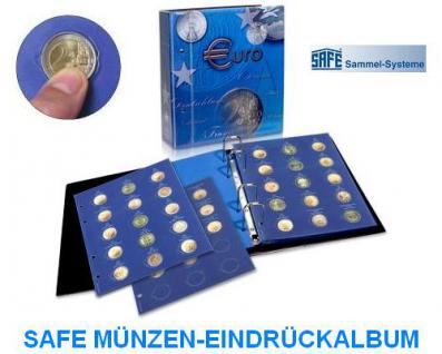 1 x SAFE 7822-16 TOPset Münzblätter Ergänzungsblätter Münzhüllen Münzblatt mit farbigem Vordruckblatt für 2 Euromünzen Gedenkmünzen - 2015 - 2016 - Vorschau 2