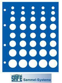 5 x SAFE 7842 TOPset Münzblätter für 5x DM KMS Kursmünzensätze 1 Pfennig - 5 DM Münzen