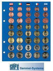 5 x SAFE TOPset farbige Vordruckblätter für Münzblätter 7858 - Euromünzen Kursmünzensätze Set - Vorschau 2