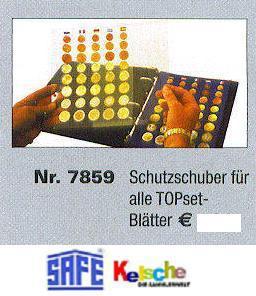 1x SAFE 7859 TOPset Schutzschuber Schutzhülle Hüllen für Topset Münzblätter Erganzungsblätter - Vorschau
