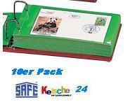 10 x SAFE 872 Hüllen Ergänzungsblätter für Briefe FDC Postkarten Ansichtskarten Album 866-1 877-1 866-6 877-6 - Vorschau 1