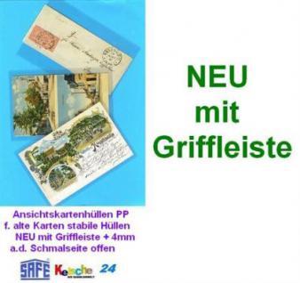 1000 SAFE Ansichtskartenhüllen Griffleiste 144x95 -