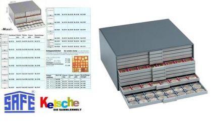 SAFE 6118 Filzeinlagen Blau für Schubladen Schuber 6108 Münzboxen 6608 Maxi Münzkasten