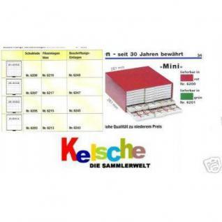 SAFE 6209 BEBA Schuber Schubladen Münzschuber 81 quadratische Fächer 25, 8 mm für den MINI Münzkasten - Vorschau 3