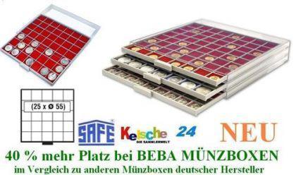 SAFE BEBA MÜNZBOXEN MB6105R ROT f. 25 Münzrähmchen - Vorschau