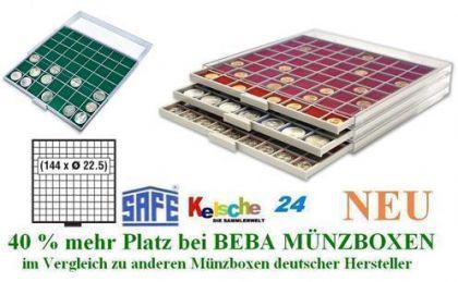 SAFE BEBA MÜNZBOXEN MB6106B GRÜN US EAGLE Dollar +B - Vorschau