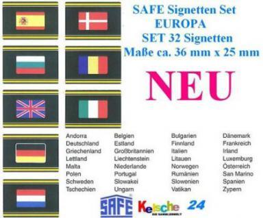 32x SET SAFE SIGNETTEN EUROPA Flaggen komplett - 25 - Vorschau