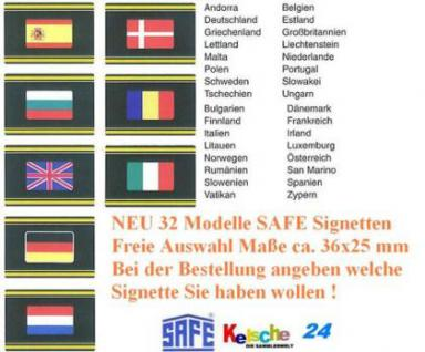 10 x SAFE SIGNETTEN EUROPA Flaggen freie Auswahl -