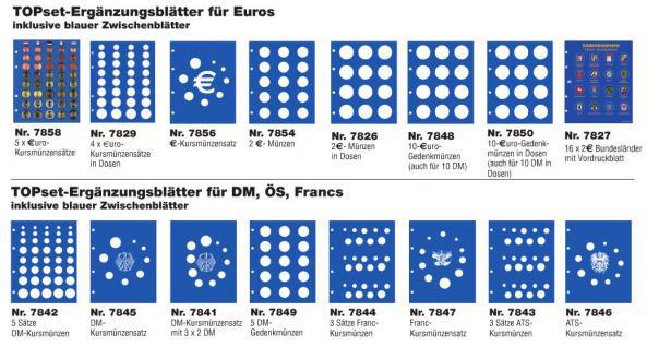 1 x SAFE 7822-6 TOPset Münzblätter Ergänzungsblätter Münzhüllen Münzblatt mit farbigem Vordruckblatt für 2 Euromünzen Gedenkmünzen 2009 - 2010 - 2011 - Vorschau 3