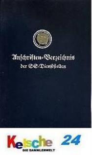 Anschriftenverzeichnis d. SS Dienststellen 1937 REP