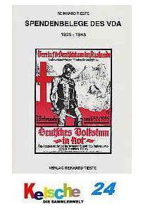 Tieste Spendenbelege des VDA 1925 - 1945 NEU