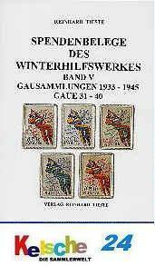 Tieste Spendenbelege des Winterhilfswerkes Bd. V