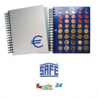 SAFE 7803 Euro Münzalbum TOPset Spiralbindung 20 Euro Kursmünzensätze KMS 1 Cent - 2 Euromünzen komplett mit 160 Euro Set Münzkapseln von Andorra - Zypern zum eindrücken