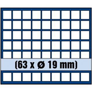 1 x SAFE 6319 SP Tableaus / Einsätze SMART mit 63 eckigen Fächern 19 mm 2 Cent 2 + 5 Pfennig