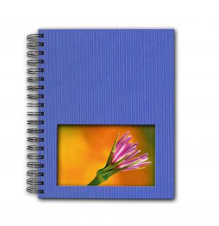SAFE 5801-4 Design Fotoalbum Classic Azur Blau 19 x 24 cm Hochformat Medium - 40 Seiten + Austauschbares Coverbild