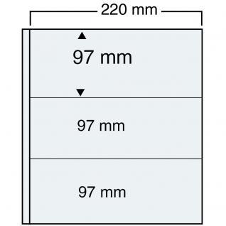 10 SAFE 465 Einsteckblätter Compact A4 - 3 glasklar Taschen 220 x 97 mm Für Postkarten Briefe