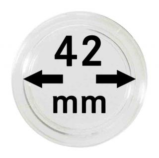 100 LINDNER Münzkapseln / Münzenkapseln Capsules Caps 42 mm 2251042