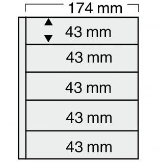 5 SAFE 7879 Compact Ergänzungsblätter Hüllen 5 Streifen 174 x 43 mm + schwarze. ZWL