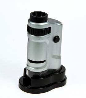 SAFE 4672 Zoom Mikroskope stufenlose 20 - 40 fache Vergrößerung mit LED inklusive Batterien Für Münzen - Briefmarken - Mineralien - Fossilien