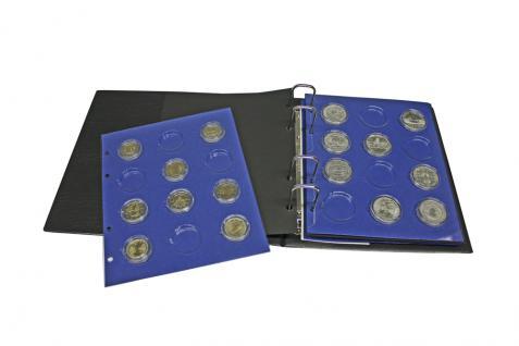 1 x SAFE 7302-19 TOPset Münzblätter Ergänzungsblätter Münzhüllen mit farbigem Vordruckblatt für 2 Euromünzen Gedenkmünzen in Münzkapseln 26 - 2015 - Vorschau 2