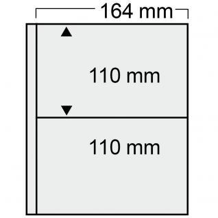 10 SAFE 7873 Compact Ergänzungsblätter Hüllen 2 Taschen 164 x 110 mm + sandfarbenen ZWL Für Postkarten - Ansichtskarten - Maximumkarten - Banknoten
