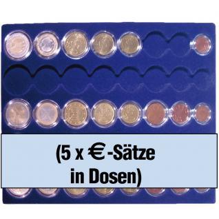 1 x SAFE 6339 SP Tableaus / Einsätze SMART für 5 komplette Euro Kursmünzensätze 1 Cent - 2 Euro in Münzkapseln