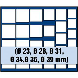 1 x SAFE 6368 SP Tableaus Einsätze SMART 27 eckigen Fächern MIXED für Münzen bis 39 mm - Ideale universelles Starter Tableaus für Anfänger - Vorschau 1
