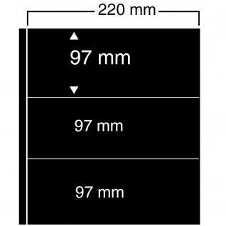 10 SAFE 453 Einsteckblätter Compact A4 - 6 schwarze Taschen 220 x 97 mm Für Banknoten Briefmarken