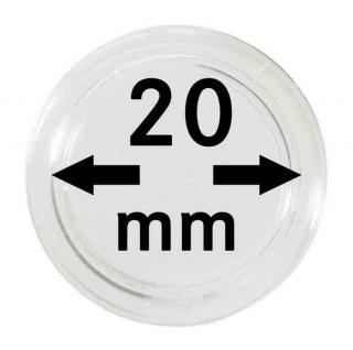 10 LINDNER Münzkapseln / Münzenkapseln Capsules Caps 20 mm 2250020P